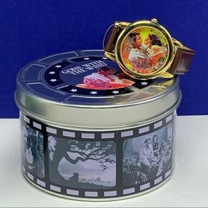 Gone with the Wind wristwatch watch Scarlett tin
